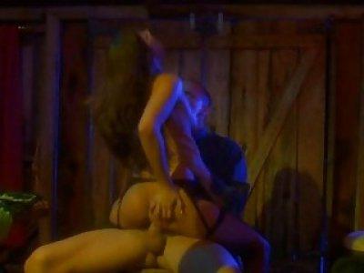 Boyfrend kisses sexual girlie