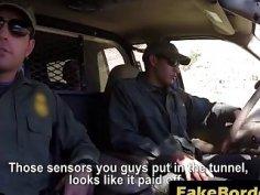 Skinny Teen Pleasing Border Guard Throbbing Cock