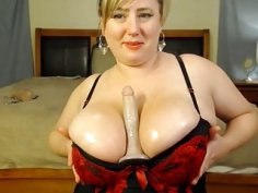 Busty milf have massive boobs