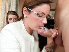 Adorable threesome sex