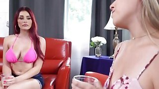 Kimber And Skyla Sharing Long Schlong In Threesome