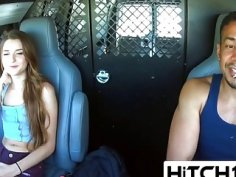 Good looking teen Alex Mae fucked by naughty truck driver