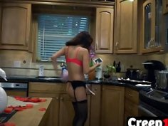 Teen Jade Jantzen Gets Banged By Creep In Kitchen