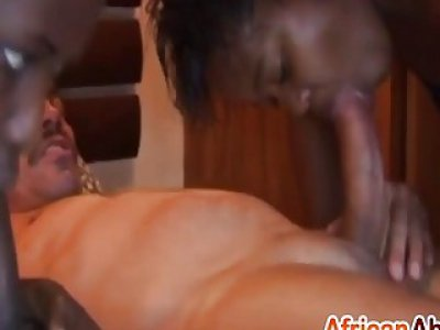 African sluts sucking long schlongs and banged