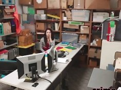 Teen thief Naiomi Gets Roughly Pounded In Office