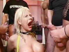 Beauty gets rough pussy drilling with spunk flow