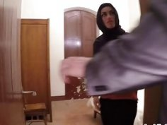 Smoking hot Arab milf taken advantage sexually by big cock hotel manager