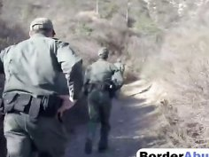 Nina Lopez busted doubted border patrol officer showed oral cum begging power