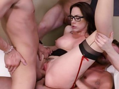 From two big cocks become three big meat