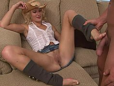 Cowgirl's footjob