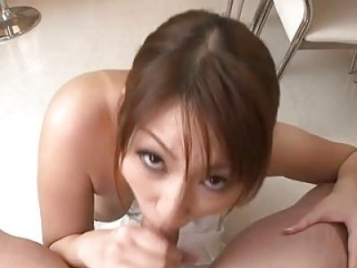 Asian babe with smokin sexy tits masturbates
