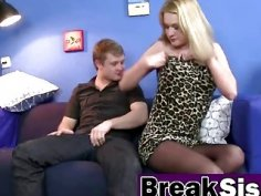 Blonde Step Sister Ruth Fowler Roughly Pounded
