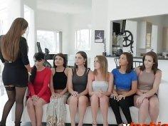 Horny lesbians enjoying amazing orgy by licking