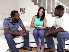 Cristal Caraballo hot Latina made out with interracial in three way