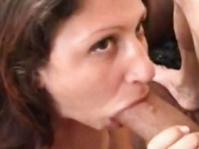 Big darksome knob for a white whore