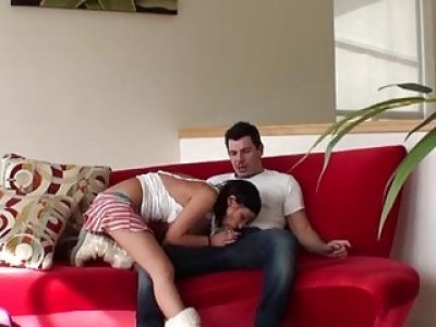 Dirtyminded teen performs tricks with a aged knob