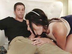 Tight teen babe Megan Sage banged by her pervert stepbro