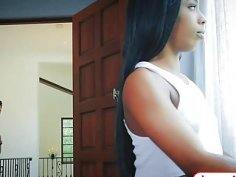 Petite black teen Sarah Banks wants it in the butt