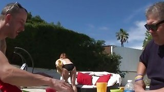 Friends step daughter gets pounded in doggy style