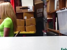 Rough office fucking with a teen shoplifter slut Alexa Raye
