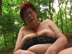 Sex crazed granny Tamara greedily sucks hard dick and gets fucked in park