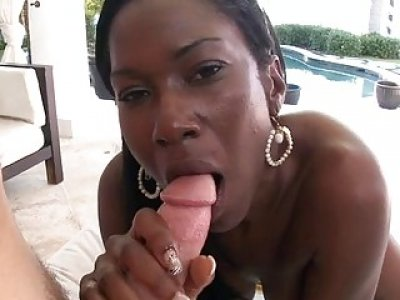 Horny black angel craves some taming for her gazoo