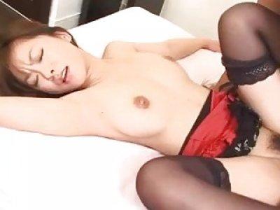 Miina Minamoto throats a big dick before fucking
