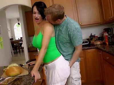 Kinky kitchen seduction