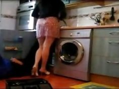 Big ass Turkish housewife seduces kinky plumber in the kitchen