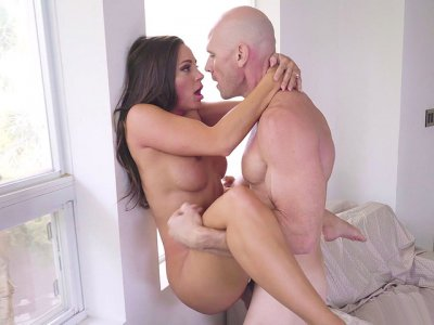 Busty Abigail Mac gets pussy pounded standing
