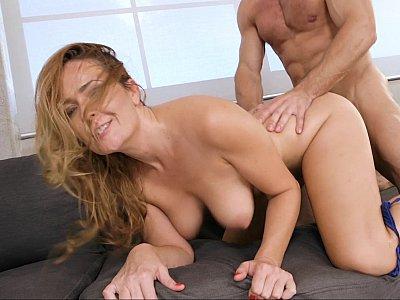 Tit-fuck for a MILF slut