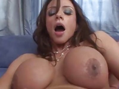 Busty mature babe Ariella Ferrara gets roughly drilled and creampied