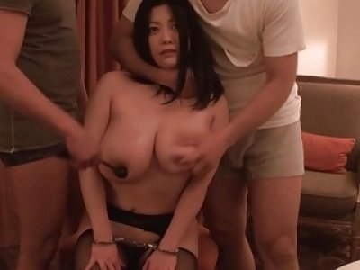 JAV BBW handcuffed sex play with Minako Komukai