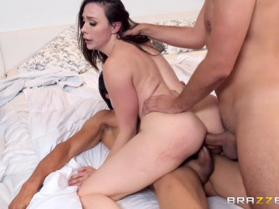 Classy MILF Chanel gets DP'd by her clients