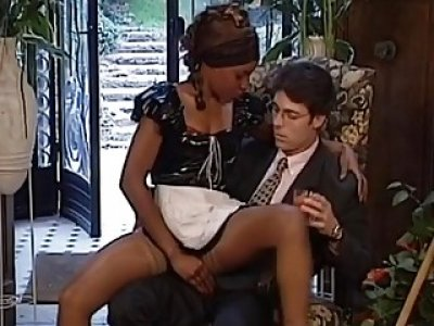 Yuppy makes love to his black maid