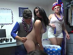US dorm sex party with hot babe