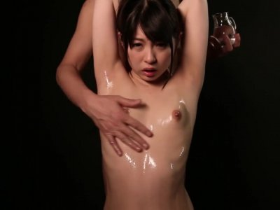 JAV bizarre nipple massage for tiny Acup Rena Aoi