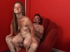 Horny boss takes his midget secretary on his office desk