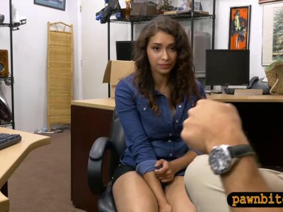 Pretty babe drilled by nasty pawn keeper