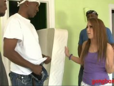 Haley Sweet analyzed by huge black cocks