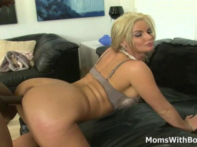 MILF Phoenix Marie No Panty Interracial Sex