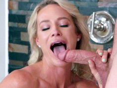 MILF Sydney Hall is sucking Kyle Mason's thick dick