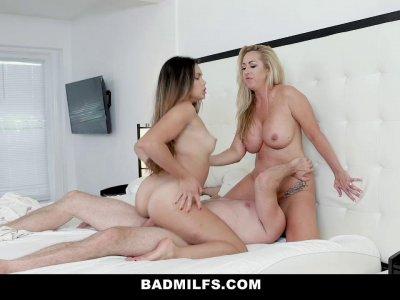BadMILFS  Sucking Her Employees Boyfriend Off