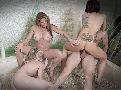 MILFs in a hardcore foursome