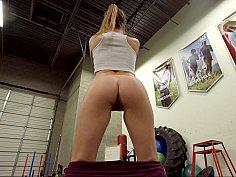 Gorgeous girl showcasing her ass