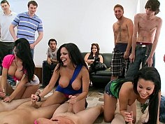 College dudes vs pornstars