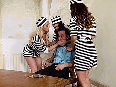 Juicy jailbirds in an orgy