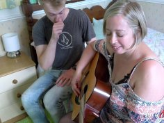 AgedLovE Shooting Starr Taking Guitar Lesson