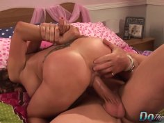Cuckold Husband Helps Wife Mariah Silver as She Sucks and Fucks a Big Cock