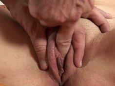 Brunette slut Nivea got fingered and sucks a dick